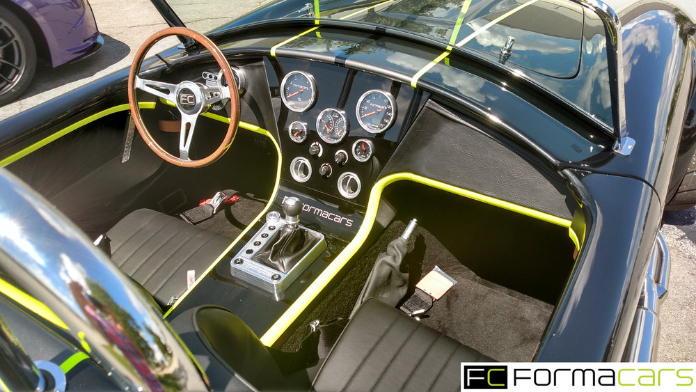 FormaCars interior Designed For Display Model   Displaying Interior, Gauges, HVAC, Light Controls, Manual Parking Brake, Heated Seat Controls, Electric Start