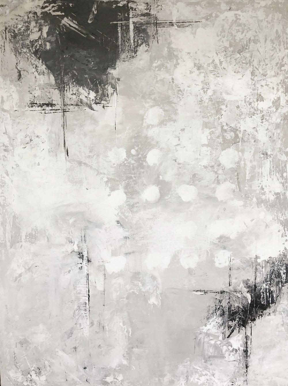 """30"""" x 40"""" Acrylics on canvas"""