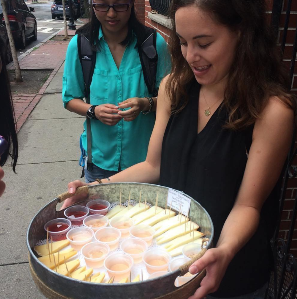 Cheese and wine tasting at Formaggio in the South End
