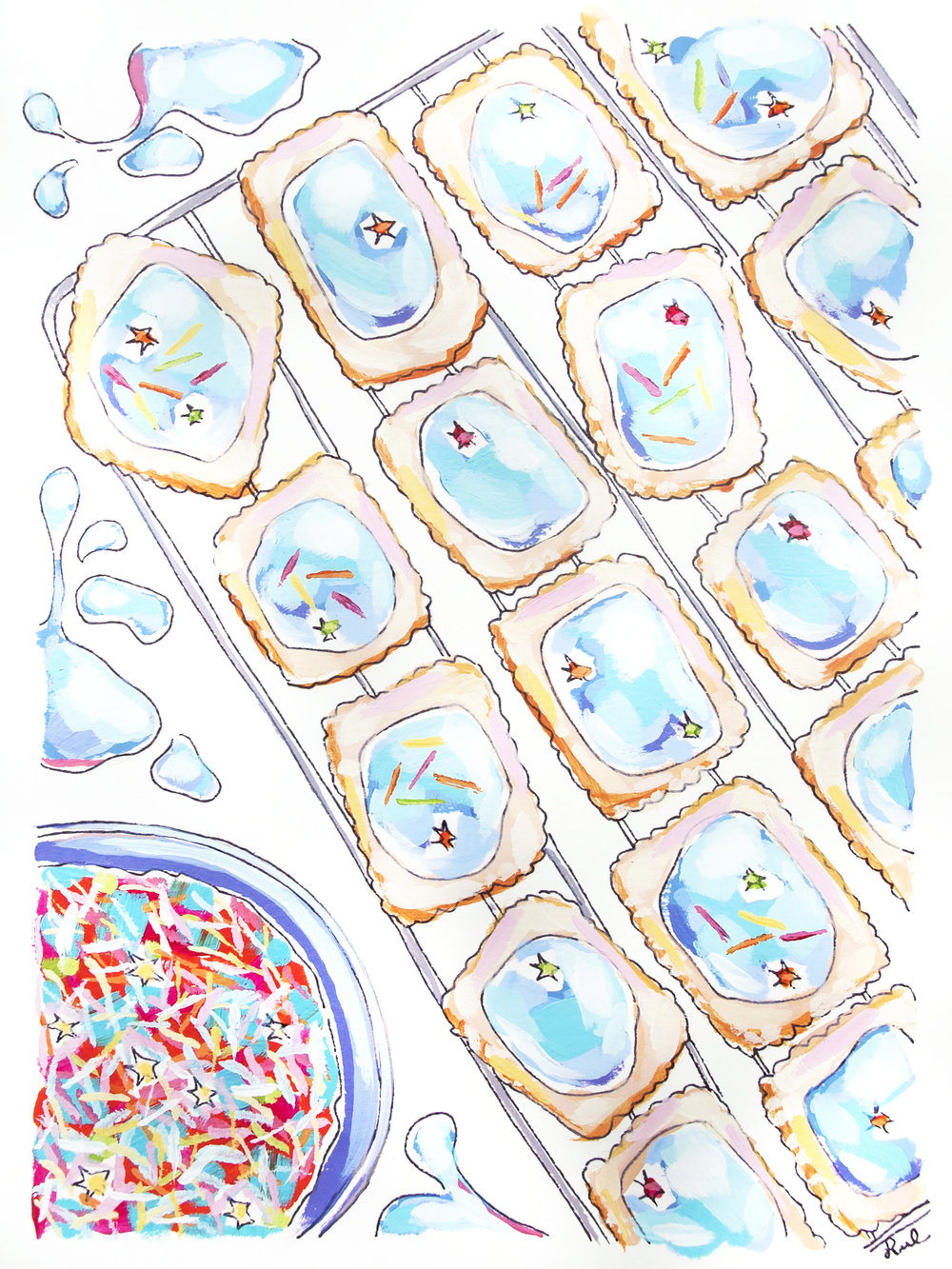 The finished pop tart painting!