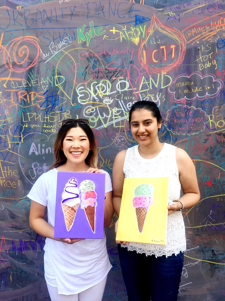 two friends with ice cream paintings.JPG