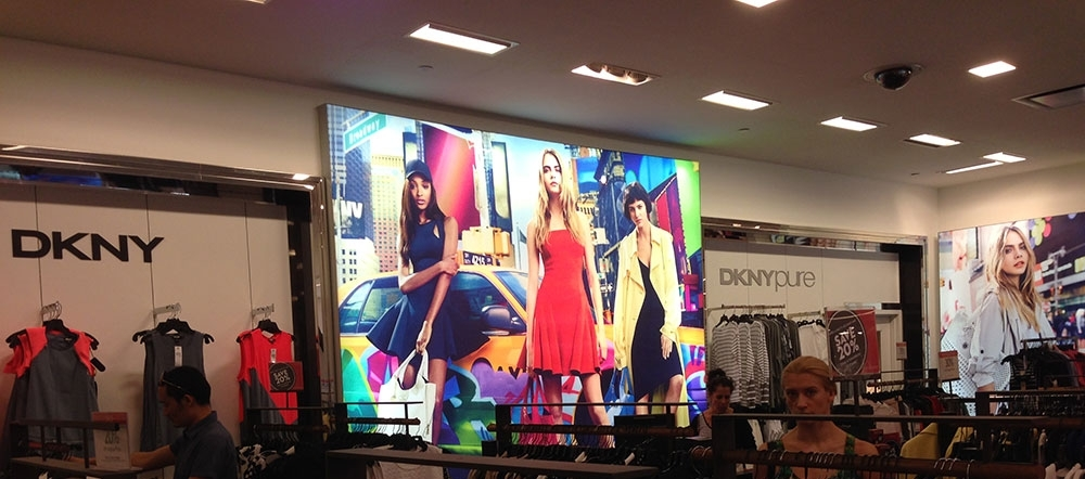 DKNY backlit wall graphics