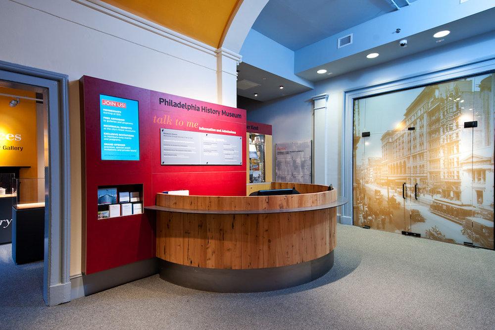 Philadelphia History Museum lobby graphics