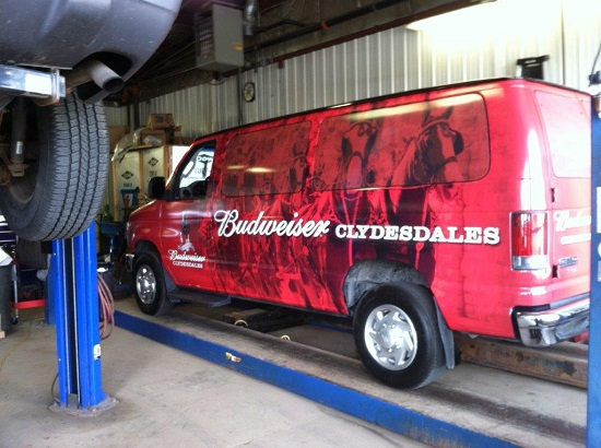 Budweiser Vehicle wrap