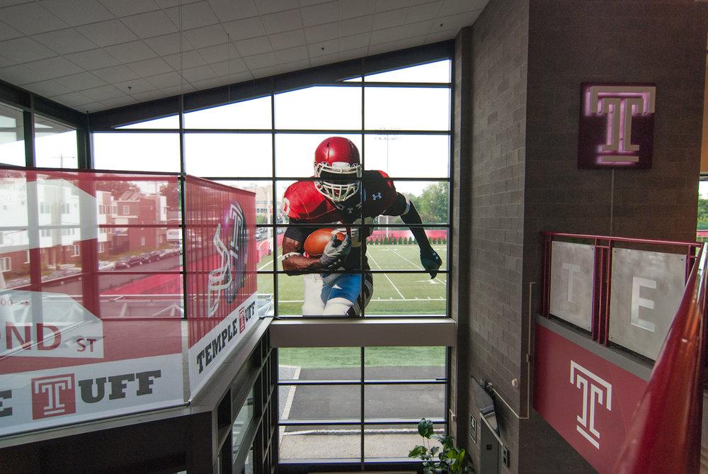Temple University window graphics