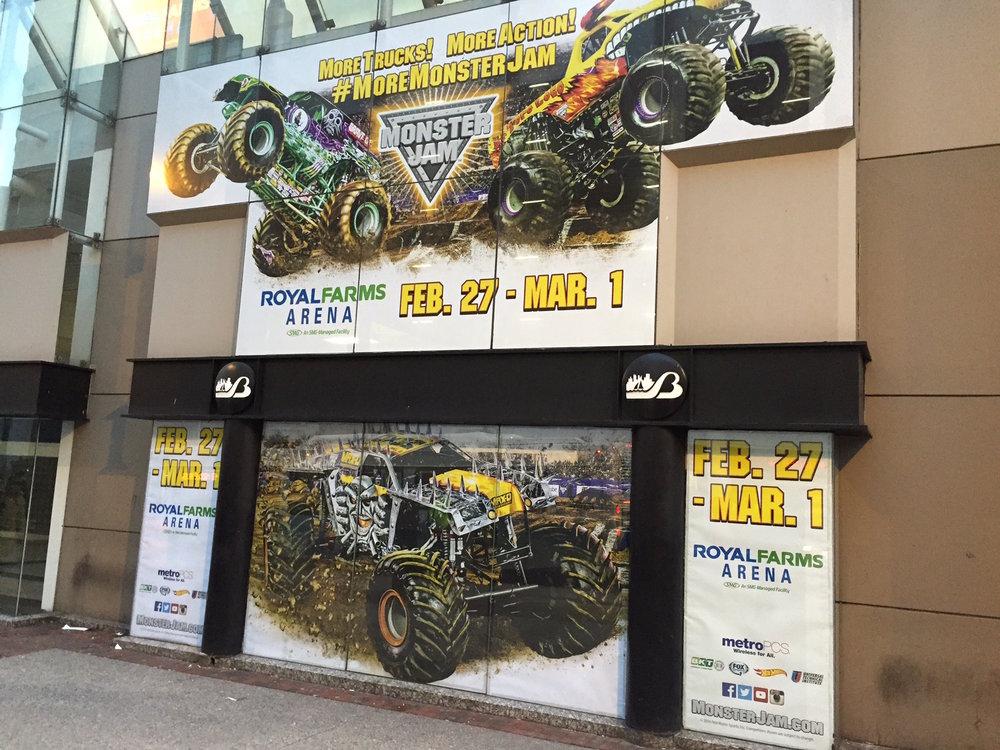 Monster Truck show stadium graphics