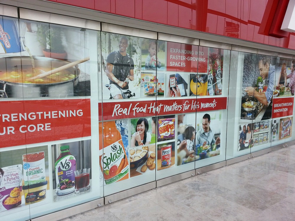 Campbell's Soup window film