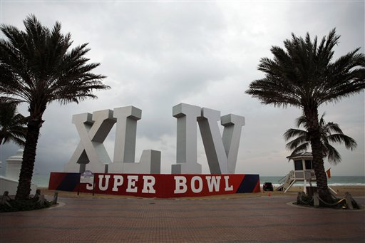 Super Bowl sign fabrication