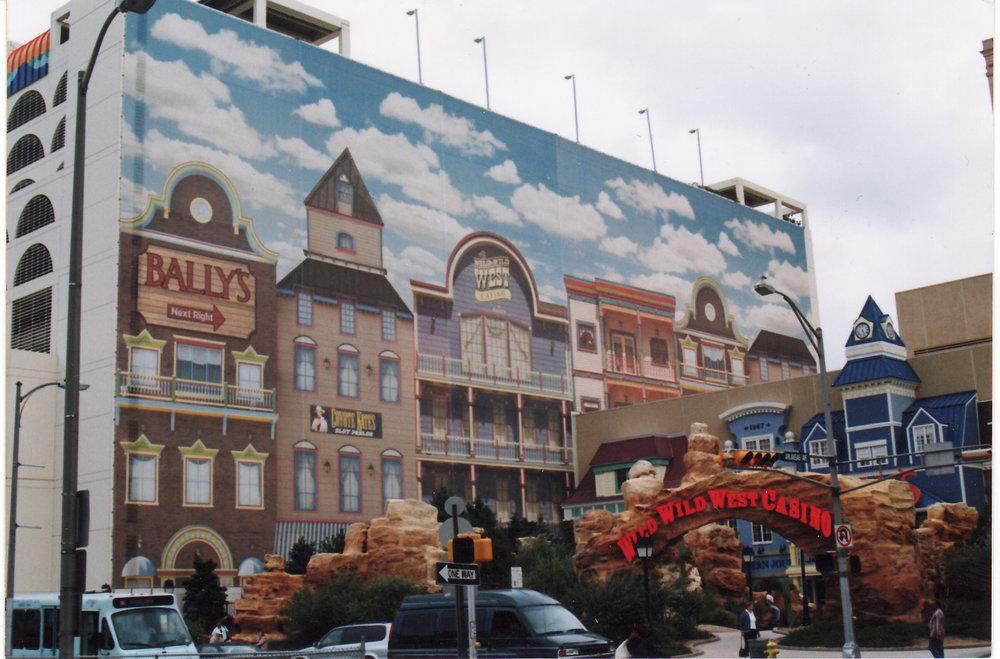 Ballys Wild Wild West outdoor wall mural