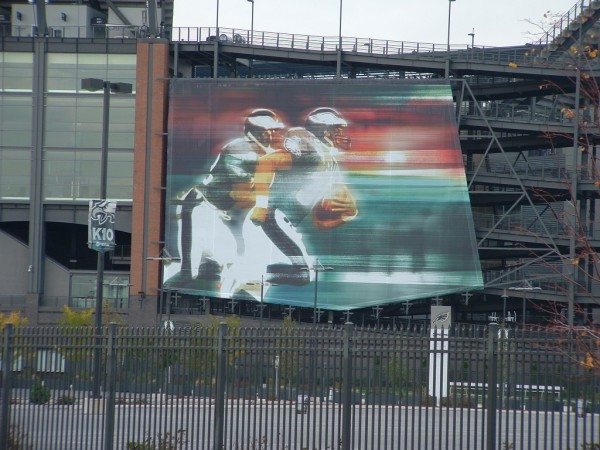 Philadelphia Eagles outdoor stadium mesh banner