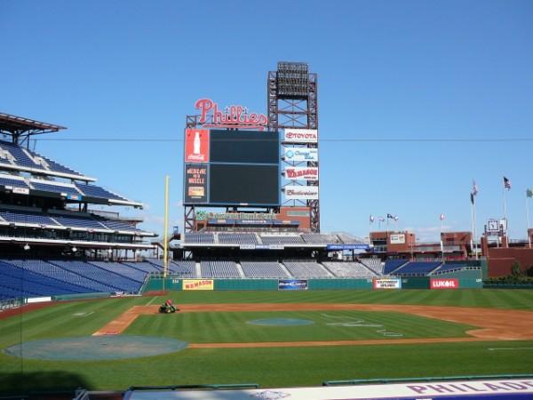 Philadelphia Phillies outdoor scoreboard