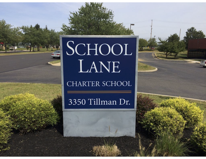 School Lane Charter outdoor sign