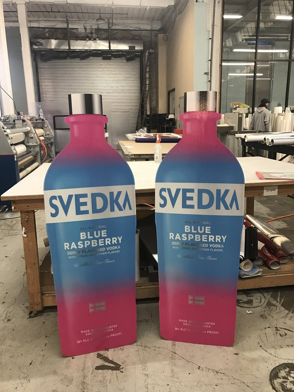 Svedka bottle standee's