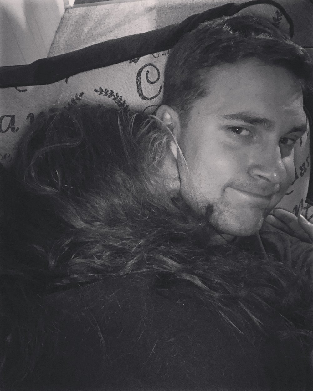 "2125 || He says he has a ""Jenn blanket"". He wanted to cuddle and this is what we got."