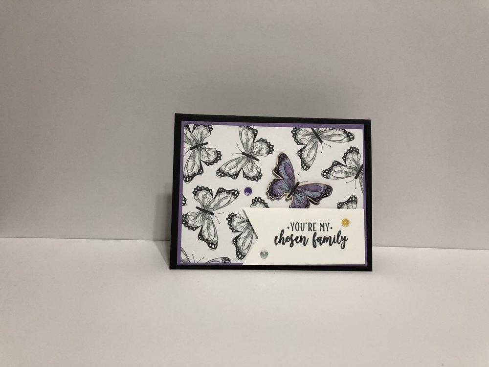 B&W Butterfly Card