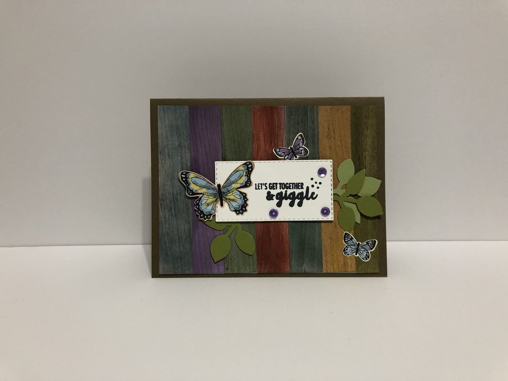 Wood Slat Card