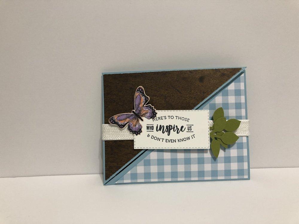 Diagonal Double Fold Card