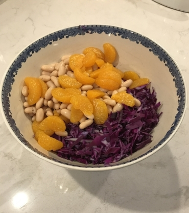 Red Cabbage Slaw with Toasted Walnuts
