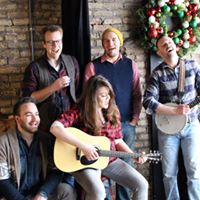 Elizabeth Morgan and the guys from her band She's Folks