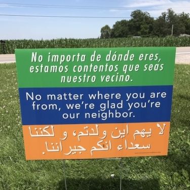 Sign in my good friend's front yard.