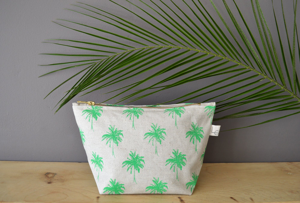 Mini Palm Zip Purse with palm leaf.jpg