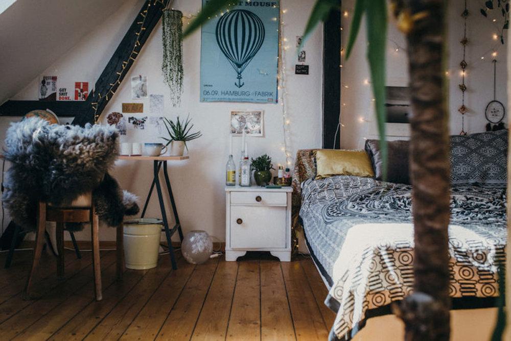 La habitación de Charlotte Wiesiolek para Urban Otfitters