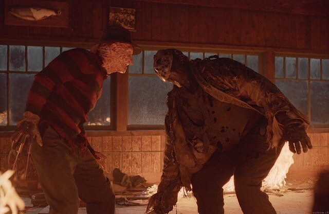 """Freddy vs. Jason"" (2003). . . . #freddyvsjason #freddykrueger #jasonvoorhees #horror #horrorfan #horrormovies #horrormovie #horrorfilm #horrorfilms #horrorgram #horrorfanatic #horrorfamily #horrorfans #horrorfiend #horrorgeek"