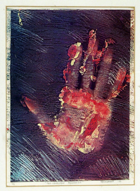 «Mainchinalement préhistorique», 1984 21,5 x 28 cm Collection du  Museo Internacional de Electrografía ,Cuenca, Espagne