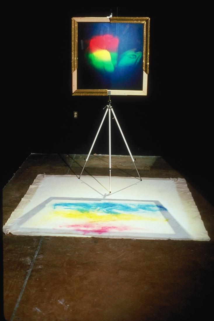 """""""Peindre ou ne pas peindre?"""", 1989 E  xhibition at the Cité internationale des arts et des nouvelles technologies, Montréal, Qc"""
