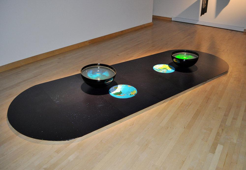 """""""Un monde d'incertitude"""", 2008   Exhibition at the Maison de la culture Côte-des-Neiges, Montréal, Qc"""