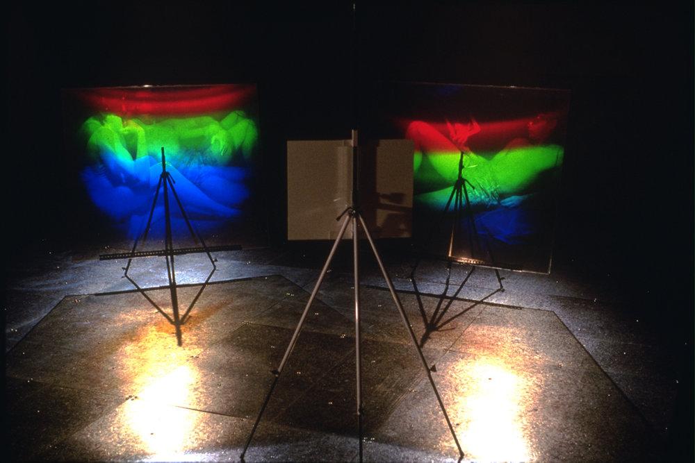 «Aire technoculturelle», 1991 Exposition à la Cité internationale des arts et nouvelles technologies, Montréal, Qc