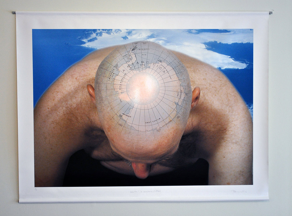 «Calvitie I (La conscience d'Atlas)», 2007 122 x 96 cm Collection de la  Ville de Trois-Rivières , Qc