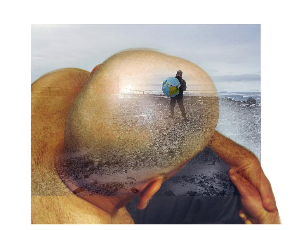 """Le délire d'Atlas"", 2007 122 x 96 cm Collection  Arte en Antartida , Buenos Aires, Argentina"