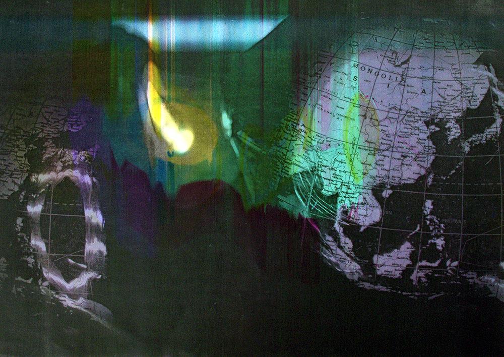 Détail 2 (Obtenu sur photocopieur par effet de bougé et projection de lumière)