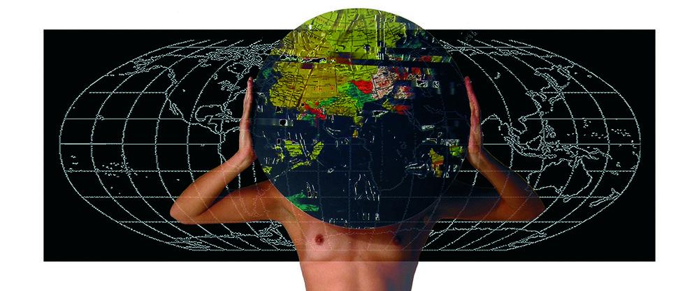 «Elle s'est mise à repenser le monde I», 2010. 122 x 51 cm