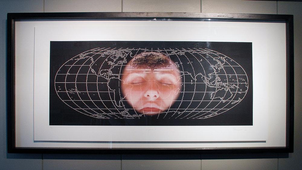 """O-zones I"",2005 116 x 56 cm (142 x 68 cm framed)"
