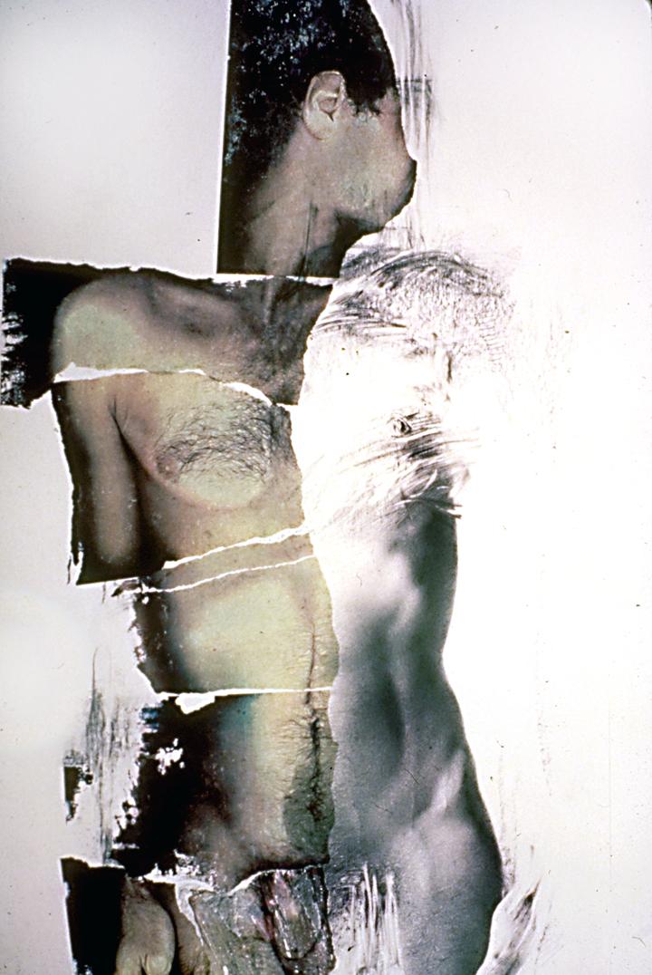 «Au regard d'un corps #1», 1982 71 x 110 cm Collection du  Programme d'acquisition Prêt d'oeuvres d'art du Musée national des beaux-arts du Québec , Québec, Qc