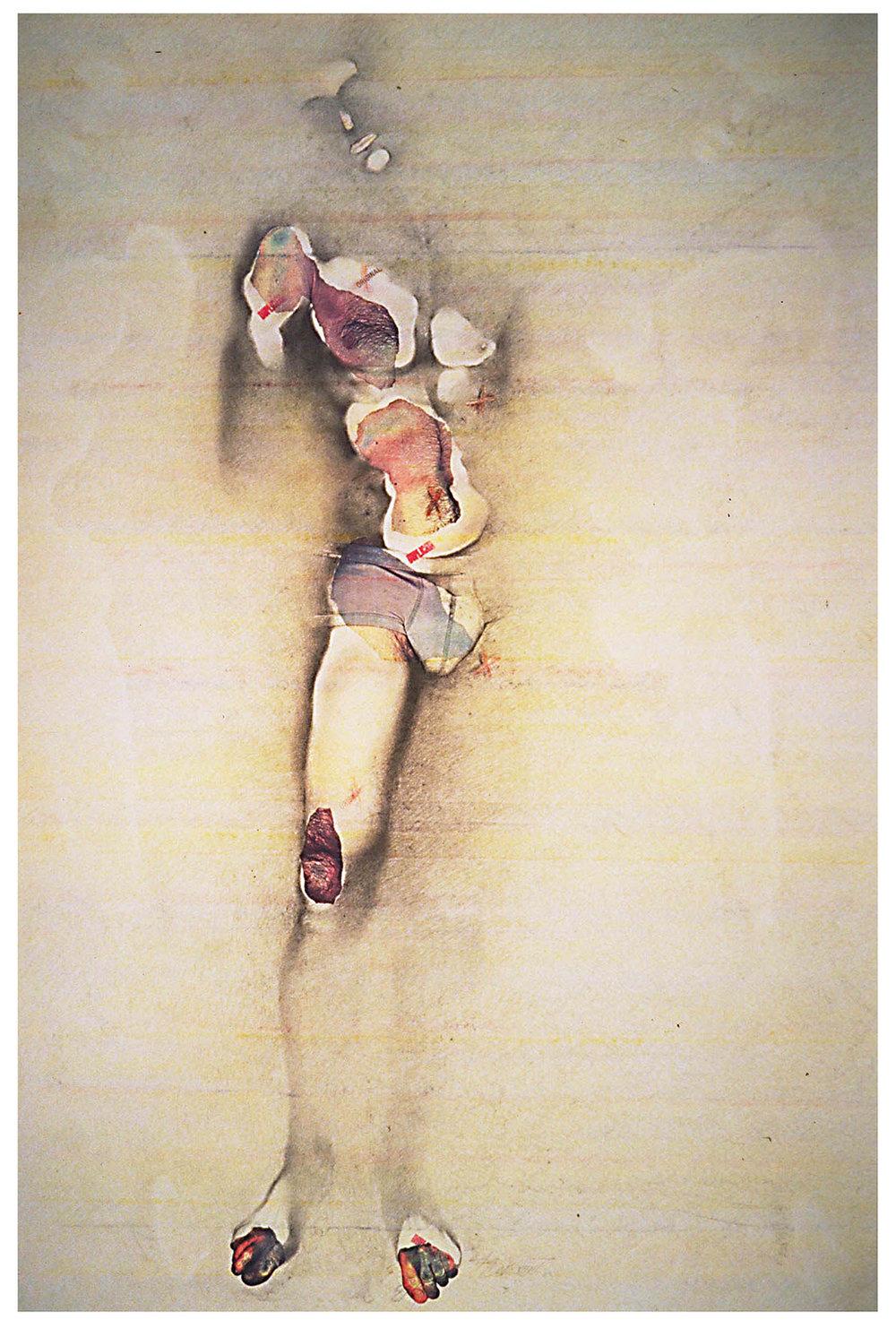 «Du pareil … au même», 1985 120 x 185 cm (Crédits photo: Andrew Blanchard)