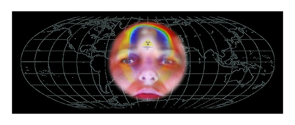 «O-zones VI», 2009 116 x 56 cm, (142 x 68 cm avec cadre)