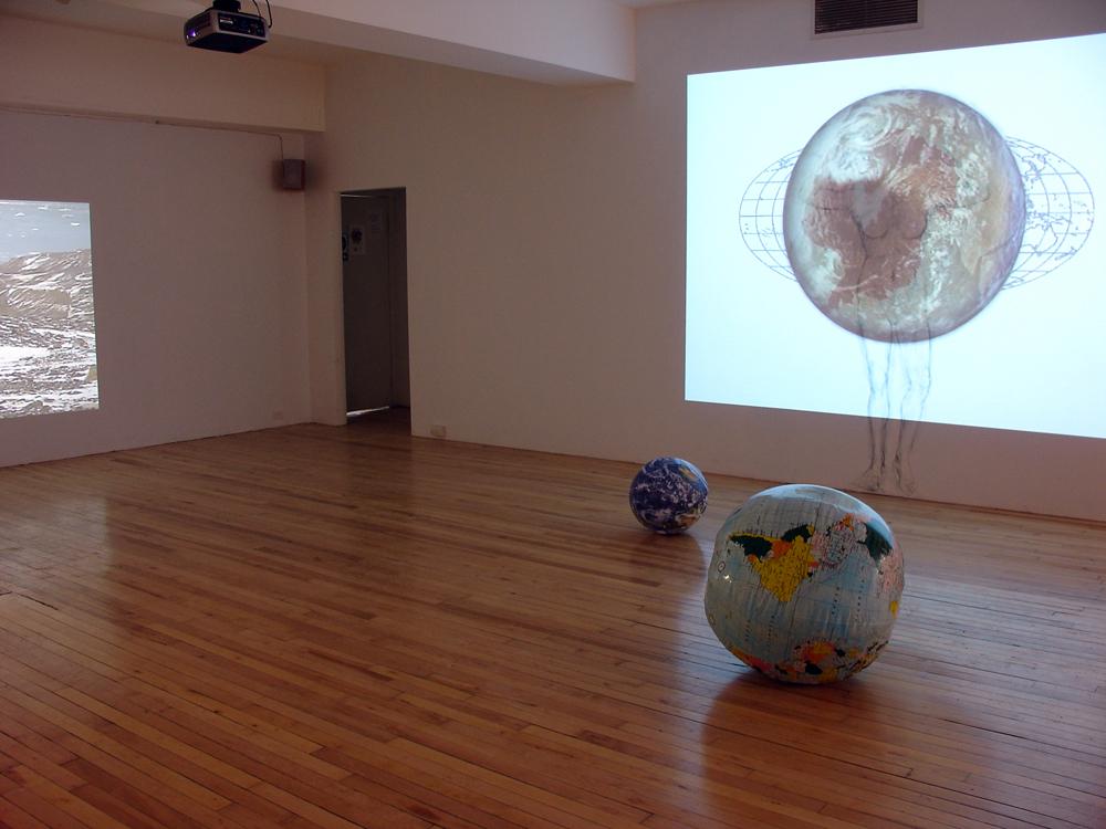 «En perdre le nord», 2008. Exposition à l'Atelier Silex, Trois-Rivières, Qc. 2009