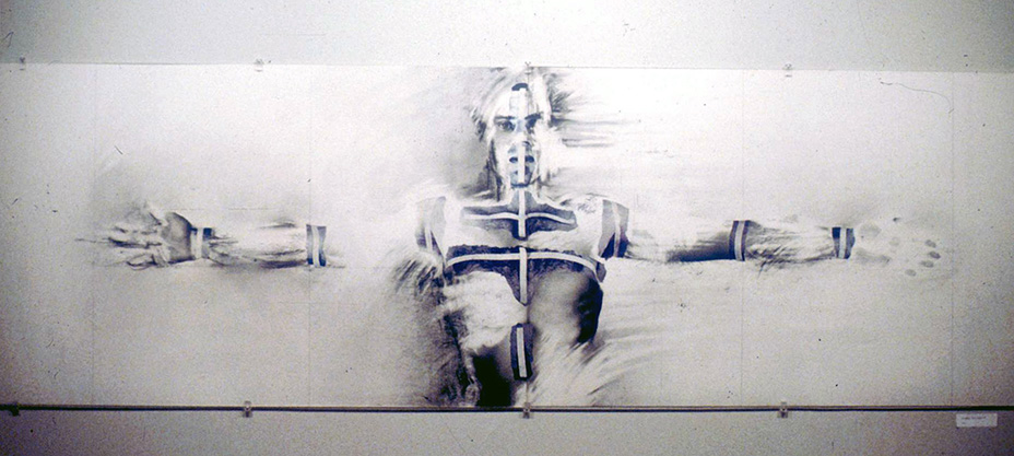 «  Au regard d'un corps # 7  », 1983 71 x 220 cm
