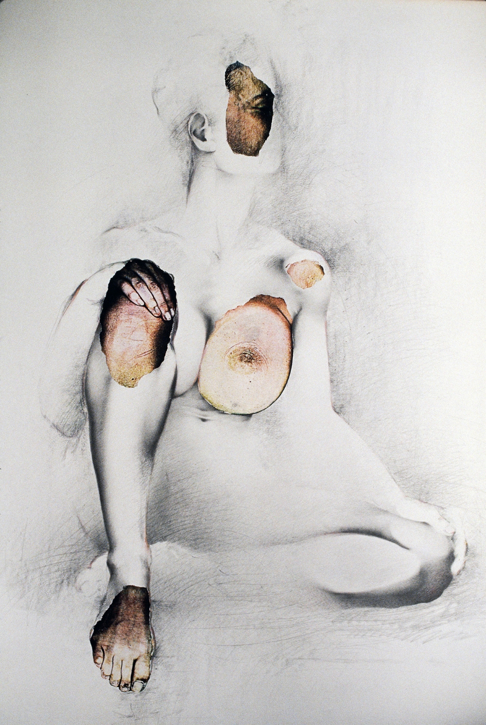 «Copie modelée», 1985   80 x 120 cm    Collection  Art Bank of Canada,  Ottawa, On