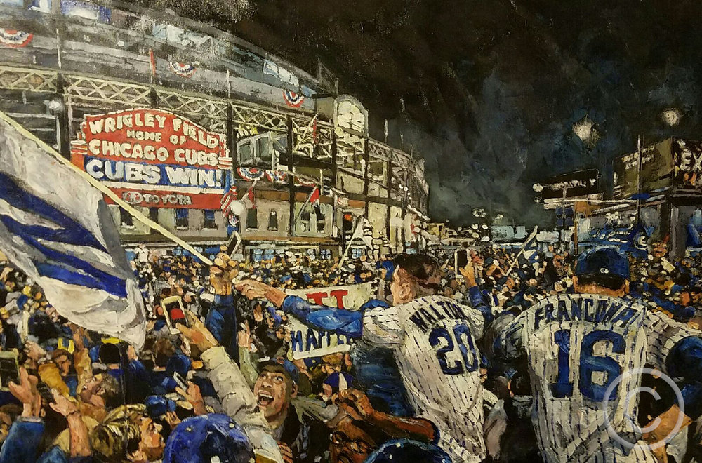"Timeout Chicago ""New Exhibition Depicts Cubs World Series Victory in Paintings"""