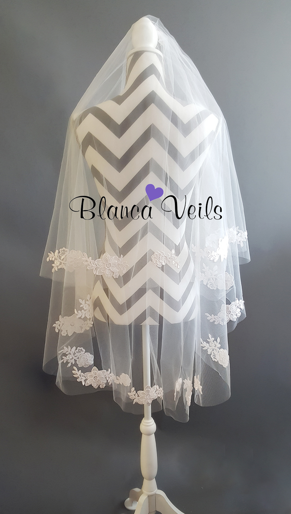 Applique Veil from BlancaVeils.com