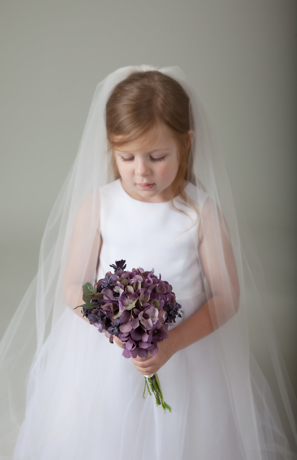 flower girl veil by BlancaVeils.com