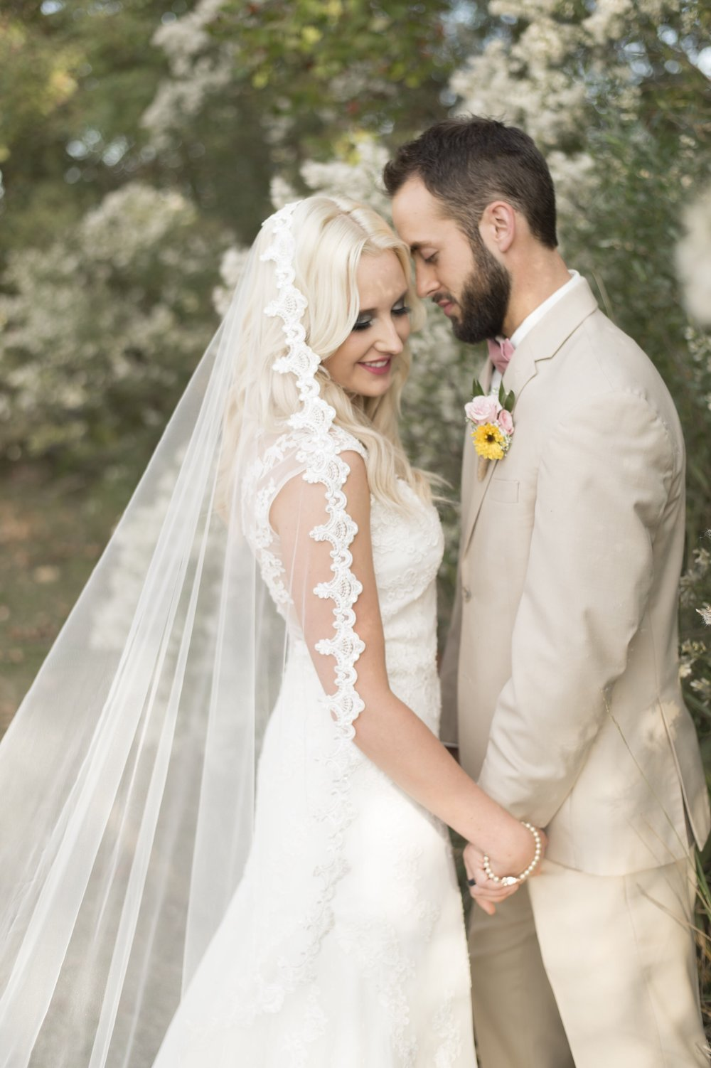 Mantilla Lace Veil, Beaded-$78