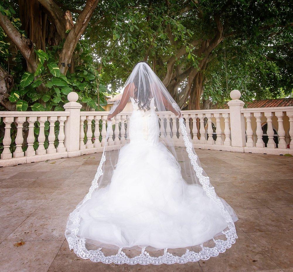 Partial Lace Veil-$77