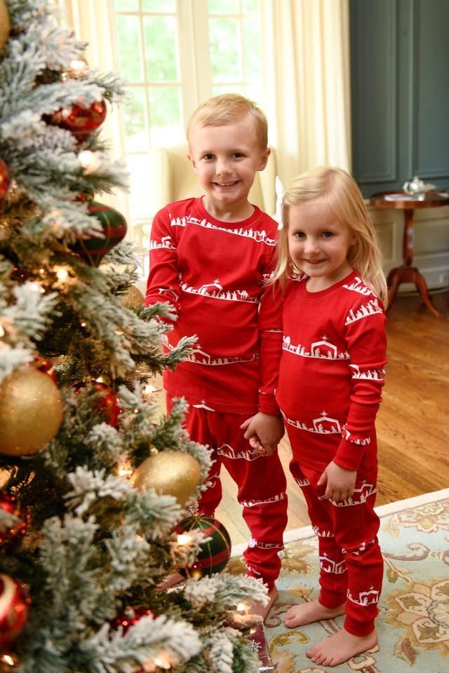 149c5d2eda35 Nativity Christmas Pajamas 100% Organic Cotton - Jesus is the Reason ...