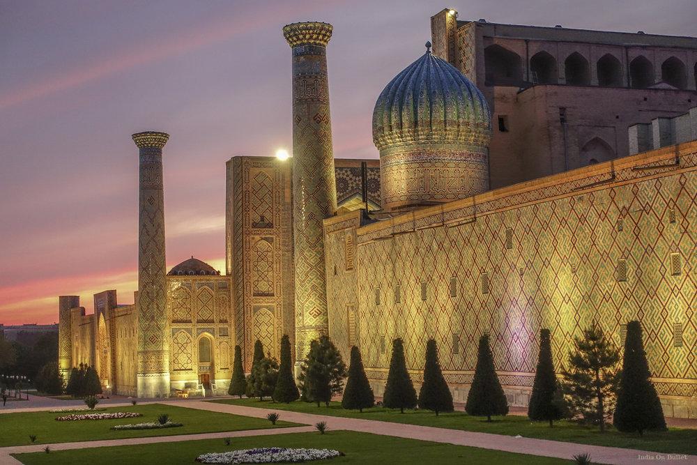 15.      La Magie de Samarcande  . Samarcande, Ouzbékistan     60cm x 40cm,   support en   aluminium,€56.00   ( Frais de Port inclus)