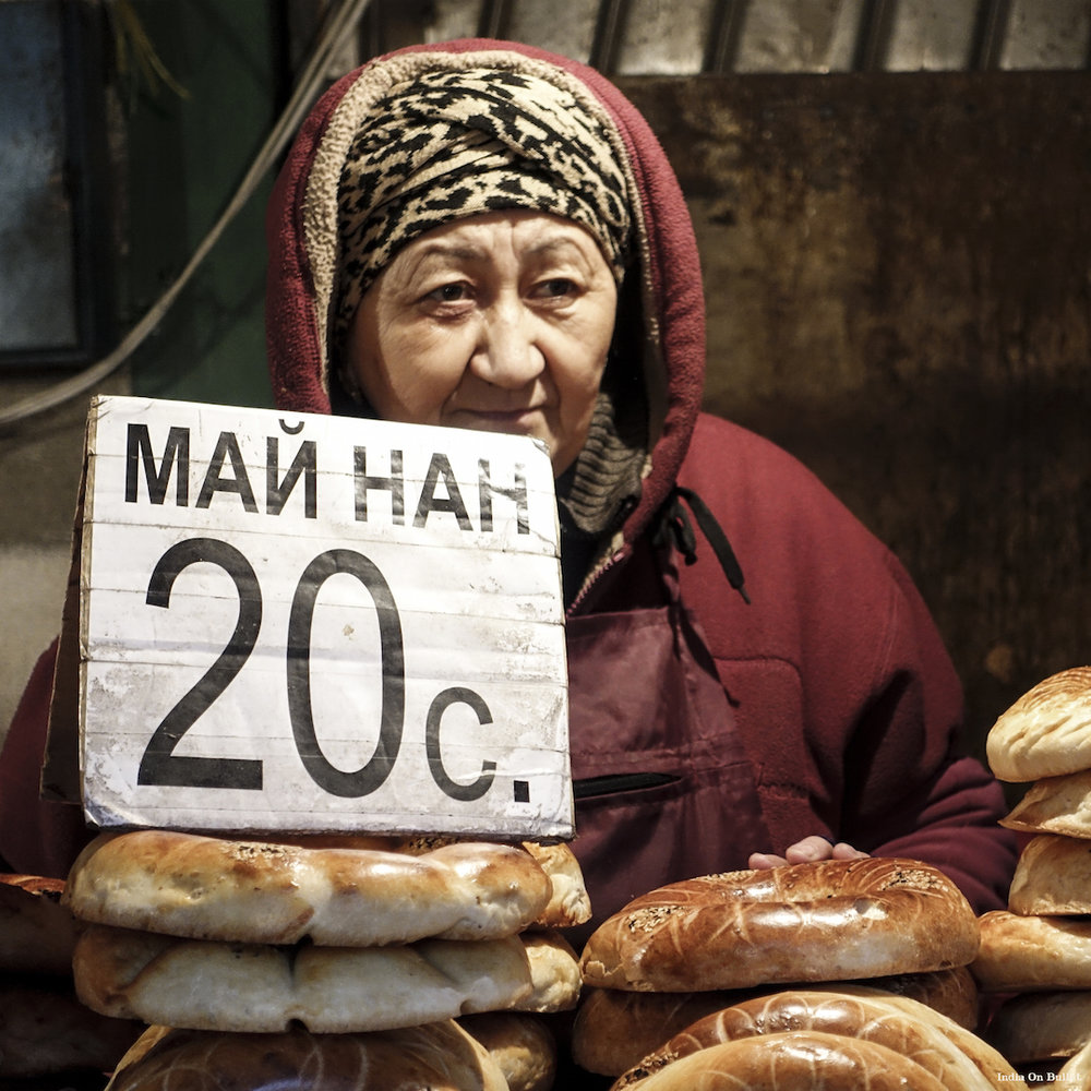 21.      Osh Bazaar Market .    Bishkek, Kyrgyzstan.    40cm x 40cm,   aluminium support, €49.00   ( Shipping Fee included)